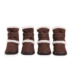 East Side Collection Faux Suede Classic Sherpa Dog Boot with Rubber Sole, Small, Chocolate - http://www.thepuppy.org/east-side-collection-faux-suede-classic-sherpa-dog-boot-with-rubber-sole-small-chocolate/