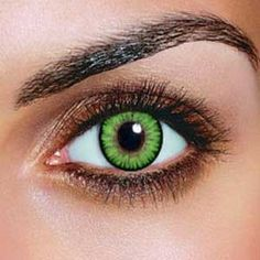 Dual Color Green Contacts (Pair)