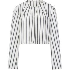 Tibi Lucci Stripe Sculpted Top (1,760 MYR) ❤ liked on Polyvore featuring tops, ivory multi and tibi