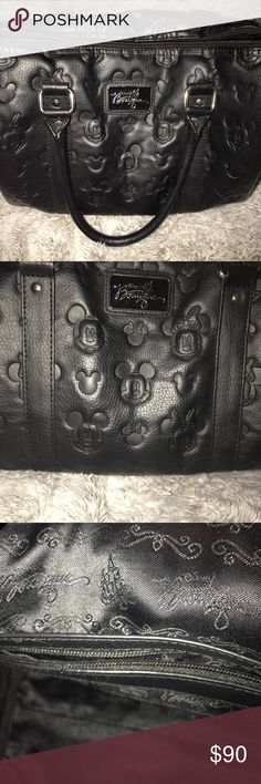 Disney Boutique Embossed Satchel Bag This bag is gorgeous! Love the embossed Mickey and Minnie head design. This is my most used bag but still in pretty good condition. Cross posted. Disney Bags Satchels