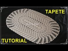 YouTube Oval Tablecloth, Crochet Tablecloth, Crochet Doilies, Filet Crochet, Knit Crochet, Crochet Hats, Knitting Videos, Crochet Videos, Tapete Doily