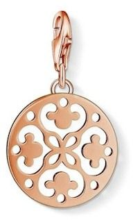Thomas Sabo Rose Gold Plated Ornament Disc Charm 1024-415-12
