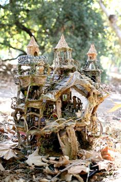 The Fairy Castle, An Amazing Fairy House, created from natural materials, exhibited at the American Visionary Art Museum, 2012 to 2013 Something to aim for!