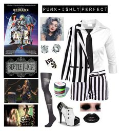 Designer Clothes, Shoes & Bags for Women Beetlejuice Halloween Costume, Diy Halloween Costumes, Halloween Celebration, Manic Panic, White Outfits, Pants Outfit, Costumes For Women, Bb, Topshop