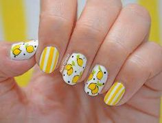 Stunning Fruit Nail Art Ideas That Refresh Your Summer 01 - Fashion trends change from time to time and there is no end to the innovative nail art designs and accessories that are used to beautify nails. Food Nail Art, Fruit Nail Art, Yellow Nails Design, Yellow Nail Art, Fruit Nail Designs, Toe Nail Designs, Nail Art Hacks, Easy Nail Art, Lemon Nails