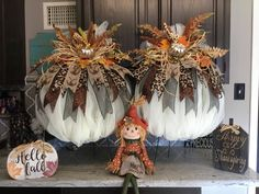 A personal favorite from my Etsy shop https://www.etsy.com/listing/249440858/fall-pumpkin-wreath-harvest-pumpkin