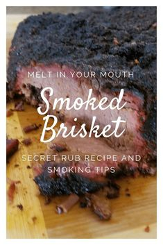 The Best Smoked Brisket Rub Recipe EVER Plus How to Smoke that Perfect Brisket - Mother of Everything Best Smoked Brisket Rub Recipe, Beef Brisket Recipes, Traeger Recipes, Smoked Meat Recipes, Best Brisket Rub, Pork Recipes, Grill Recipes, Spinach Recipes, Weber Brisket Recipe