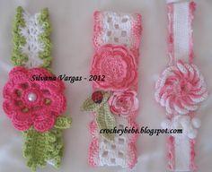 Crochet y Bebê: Lindas tiaras em crochet!!!