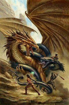 Dragon vs serpent