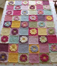 Serendipity Patch: Crochet. No pattern, but beautiful blanket.
