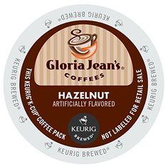 Gloria Jean's Hazelnut, K-Cup for Keurig Brewers, 48 Count