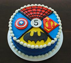 Superheroes Cake by Snacky French
