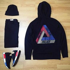 Outfit grid - Palace hoodie