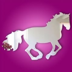 Kids Acrylic Mirror Horse Wall Decal or Wall Sticker by Shenzhen Xing Xiang Yang Science & Technology Co, http://www.amazon.com/dp/B00C2UES18/ref=cm_sw_r_pi_dp_tOOLrb1HVJA5T
