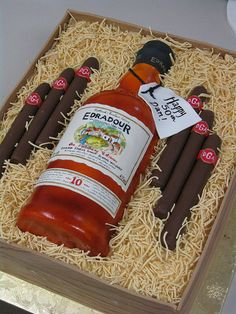 Scotch and Cigar box Cake  by hainesbarksdale, via Flickr