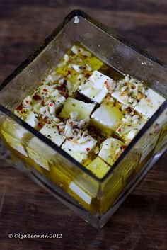 Super Quick & Delicious Appetizer: Marinated Feta #vegetarian #kosher