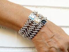 Swarovski Bracelet Beaded Bracelet Wrap por KuentaAlKuadrado