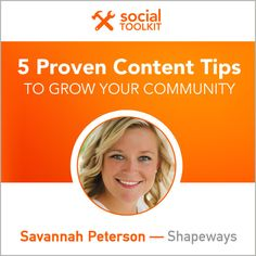 5 Proven Content Tips to Grow Your Community - @socialfresh