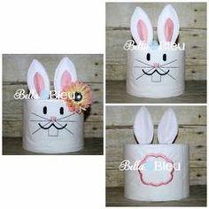 Easter Bunny Rabbit In the hoop ITH Toilet Paper Design