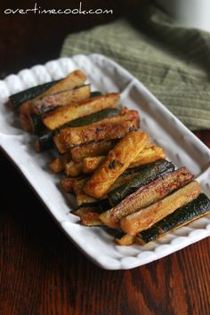 Spicy Baked Zucchini Sticks (Overtime Cook)