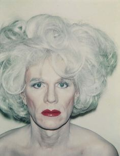 Self-Portrait with Platinum Bouffant Wig  (1981) | Andy Warhol