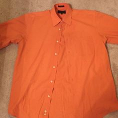 Men's Orange Dress Shirt Great condition, great for weddings, work, or a night out. Medium, 15-15 1/2, 34/35 Alexander Julian Tops Button Down Shirts