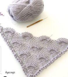 This Pin Was Discovered By Dim - Diy Crafts - maallure Crochet Mandala, Crochet Shawl, Crochet Stitches, Crochet Hooks, Free Crochet, Crochet Blanket Patterns, Baby Knitting Patterns, Hand Knitting, Stitch Patterns