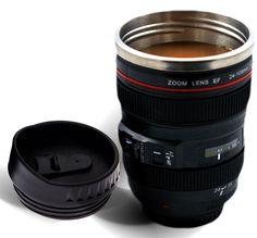 12 Oz Hot/Cold Camera Lens Mug