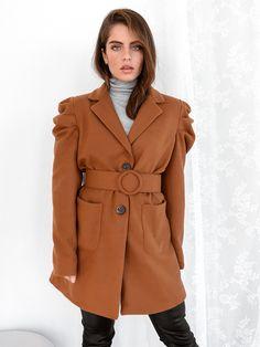 Παλτό Κοντό Με Ζώνη Κάμελ – Negroni Jackets, Coats, Fashion, Camel, Down Jackets, Moda, Wraps, Fashion Styles, Coat