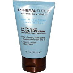 Mineral Fusion, Purifying Gel Facial Cleanser, For Normal To Oily Skin Types, 1.5 fl oz (44 ml) * Visit the image link more details.