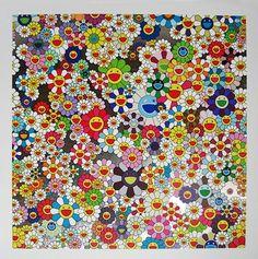 Takashi Murakami: Flower pattern I need in my home somewhere for nostalgic reasons