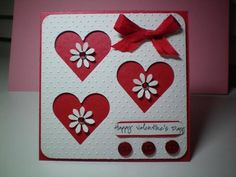 Valentine hearts...Stamp: Stampendous by kittycatluvr