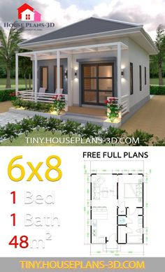 Plans Hip Roof Tiny House Plans Studio House Plans Hip Roof Tiny House PlansStudio House Plans Hip Roof Tiny House Plans House Design Plans with 2 Bed. Brick House Plans, Basement House Plans, House Plans One Story, Craftsman House Plans, Dream House Plans, Tiny House Plans Free, One Bedroom House Plans, Guest House Plans, Tiny House Cabin