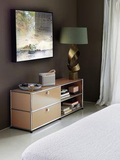 Inspirations déco : meuble de rangement USM Haller - coloris beige