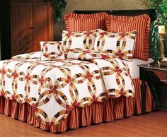 Colleen's Wedding Ring Quilt | Colleen's Wedding Ring Quilts, Draperies, Comforter Sets, Bedspreads, Duvets and Daybeds | PaulsHomeFashions.com