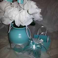 From LovinglyMine on Etsy: Custom Party Decorations & Invitations Tiffany Blue Party, Sweet 16, To My Daughter, Bridal Shower, Arts And Crafts, Turquoise, Trending Outfits, Unique Jewelry, Handmade Gifts