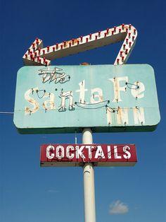 The Santa Fe Inn (vintage neon sign) by douglasspics, via Flickr