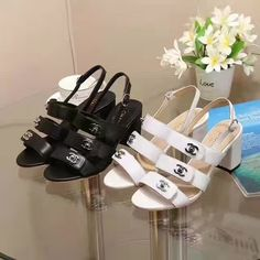 Chanel sandals black and white size 35-40 offer now stock