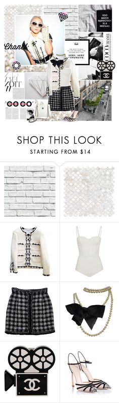 """""""Throw up your arms into the sky"""" by aliicia21 ❤ liked on Polyvore featuring Karl Lagerfeld, Chanel, sass & bide, Giambattista Valli, MANGO and living room"""