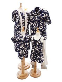 4409b25e78 Hilo Hattie Hilo Hattie Classic Hibiscus Pareo Navy Cotton Girls Hawaiian  Adjustable Strap Dress