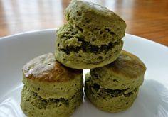 Matcha Green Tea Scones (low sugar and healthy matcha. use sugar free flour) More