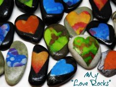 Love Rocks - I just made 40+ love rocks to send with my Christmas gifts. You can too...read the sorrow to inspire story at Love Drenched Life (http://love-drenched-life.com/love-rocks/)