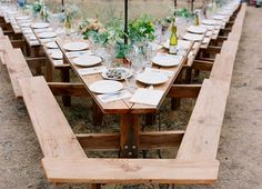 Awesome outdoor wedding table!