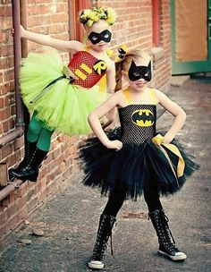 #batman & #robin #halloween costume ideas for girls @KD Eustaquio Dekoski Let's be Batman and Robin with this style!! ;)