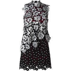 Self-Portrait 'Millie' lace dress (€310) ❤ liked on Polyvore featuring dresses, black, lace cocktail dress, self portrait dress, lacy dress and lace dress
