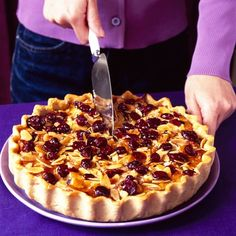 Cranberry, apple and calvados tart recipe which you can freeze ahead ...