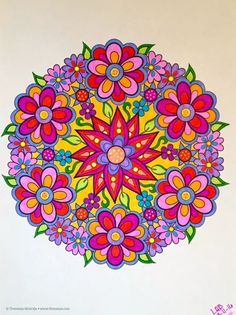 Flower Mandalas from Design Originals ~ #colormehappy colorbyleeannbreeding 3 11 16