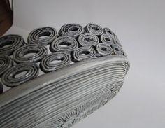 Bandeja de la cesta hecha a mano de papel por fantasmaniaxx en Etsy