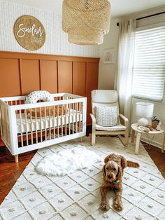 Nursery Twins, Baby Nursery Decor, Nursery Room, Project Nursery, Baby Ideas For Nursery, Modern Nursery Decor, Bedroom, Orange Nursery, Nursery Neutral