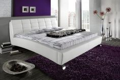 Egg plant and white color scheme for romantic bedroom White Furniture, Furniture Decor, Best Bedroom Colors, First Home, Mattress, Color Schemes, Sweet Home, Wall Decor, Luxury